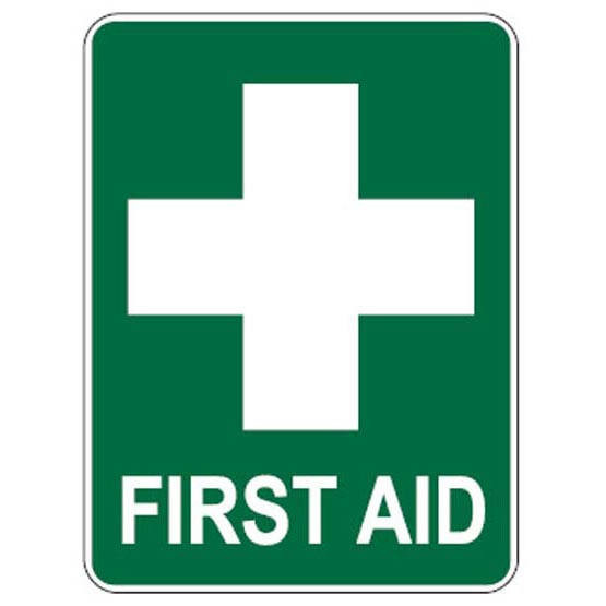 Site Sign First Aid 450x600mm
