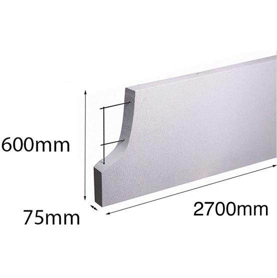 Hebel PowerPanel XL 2700x600x 75mm (PowerFence) (see * for freight costs)