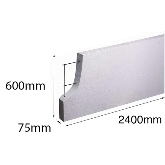Hebel PowerPanel 2400x600x75 mm (PowerFence) (see * for freight costs)