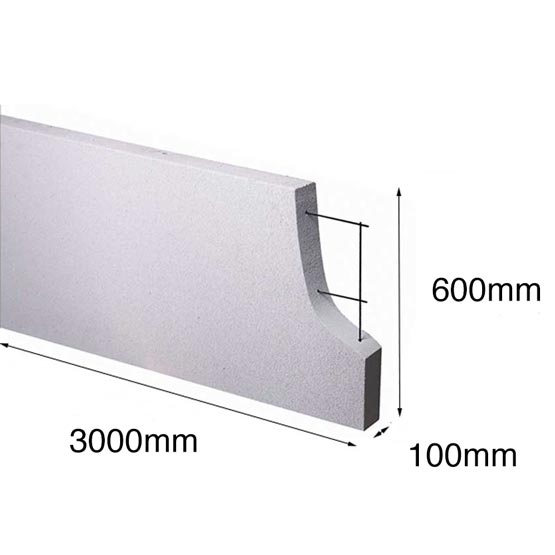 Hebel Panel SoundBarrier 3000x 600x100mm Made to Order (PowerFence) (see *)