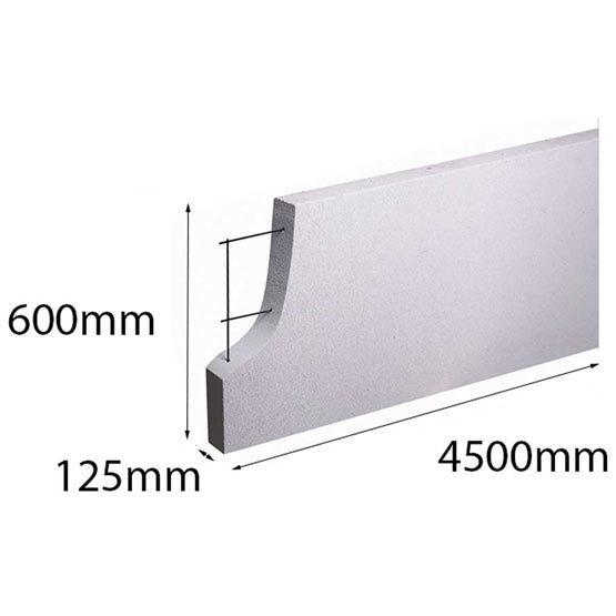 Hebel PowerPanel+ 4500x600x 125mm Made to Order (PowerPanel) (see *)