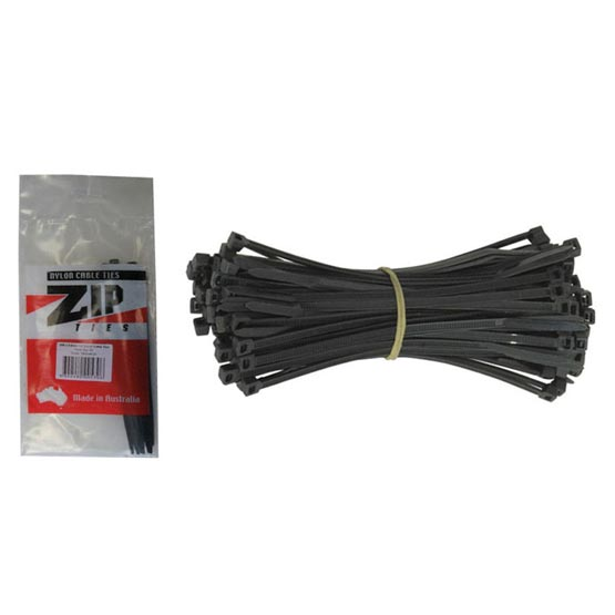 Tie Cable 200x4.8mm Black Pack of 20