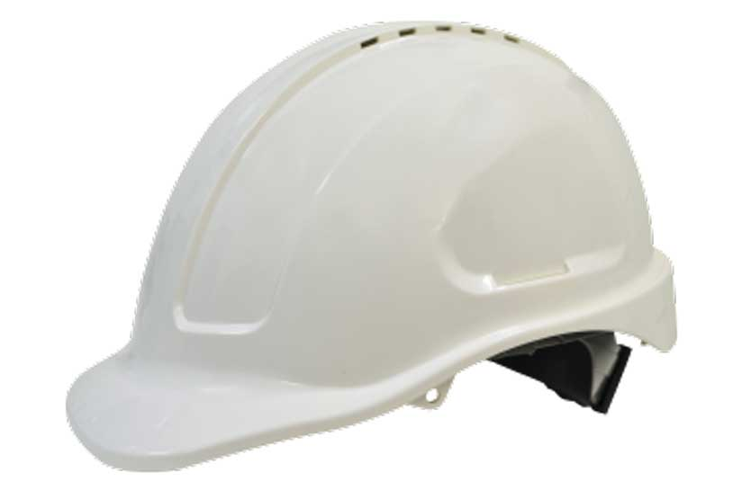 Hard Hat Safety White Vented Sliplock