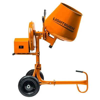 Cement Mixer 2.2 Cubic Feet Electric Pre-Assembled Lightburn