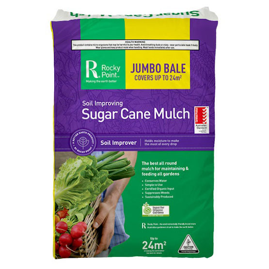 Packaged Mulch Sugar Cane Jumbo Bale (covers approx 24m2)