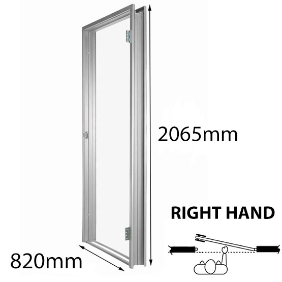 Door Frame Metal 820mm RH 93mm Throat Non-Rated