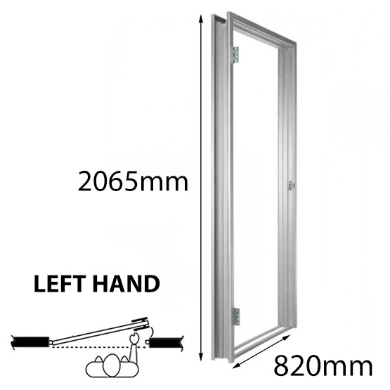 Door Frame Metal 820mm LH 90mm Throat Non-Rated