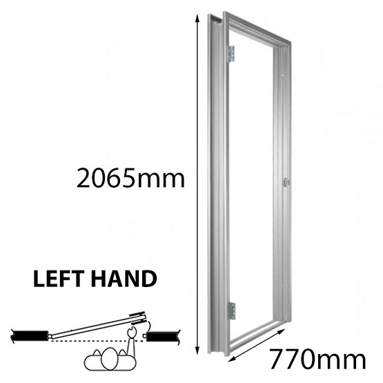 Door Frame Metal 770x2065mm LH 93mm Throat Non-Rated Lift Off Hinges