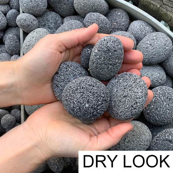 Pebble Lava Charcoal 30-50mm 15kg
