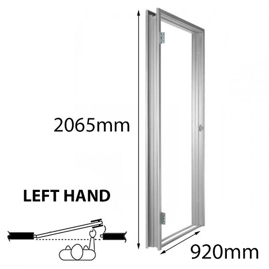 Door Frame Metal 920x2065mm LH 93mm Throat Non-Rated