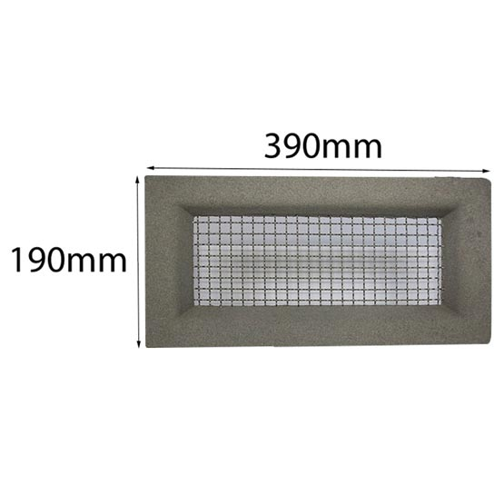 Vent 390x190mm Wire Mesh Block Work Plain Grey Surround Acme