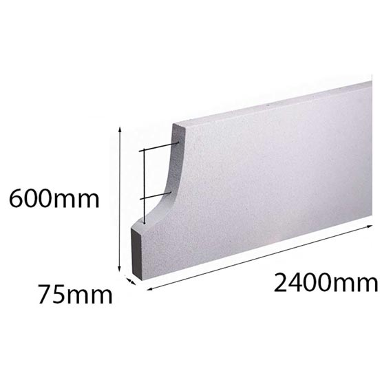 Hebel PowerPanel XL 2400x600x 75mm (PowerFence) (see * for freight costs)