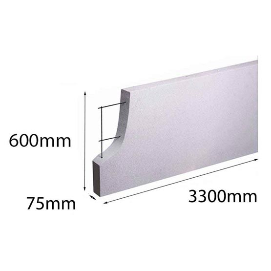 Hebel PowerPanel XL 3300x600x 75mm (PowerFence) (see * for freight costs)