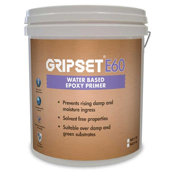Gripset E60 Kit Total 20L (10L of Each Component) Water- Based Epoxy Primer