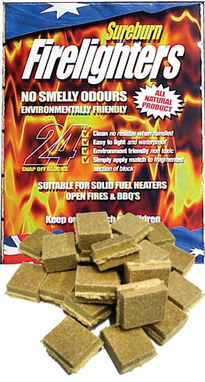 Firelighters Sureburn 24pk Waterproof