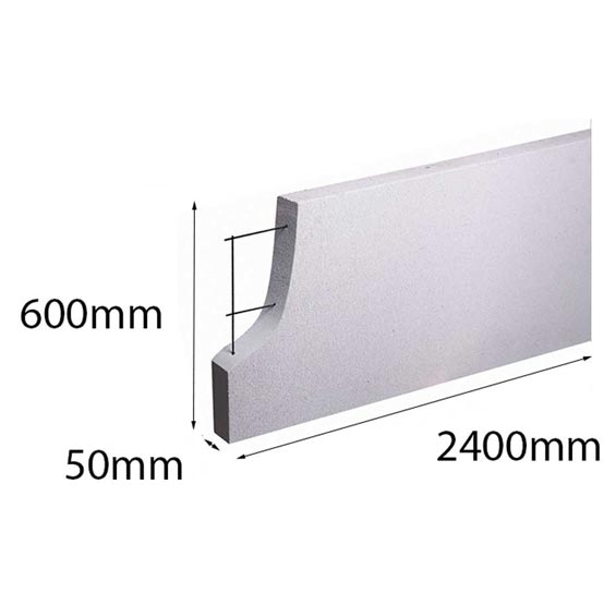 Hebel PowerPanel50 2400x600x 50mm (PowerFence) (see * for freight costs)