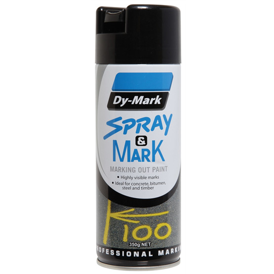 Survey Marking Black 350g Dy-Mark Spray & Mark Paint
