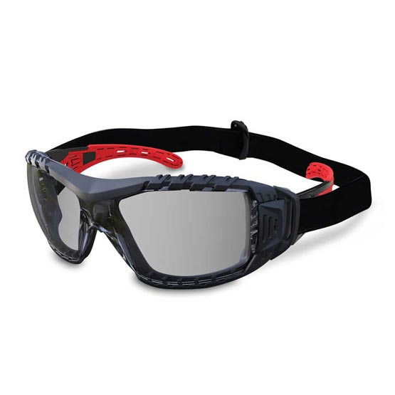 Safety Glasses Clear Lens Gasket & Headband Evolve