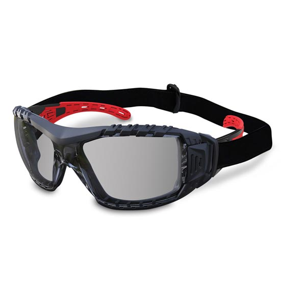 Safety Glasses Silver Lens Gasket & Headband Evolve