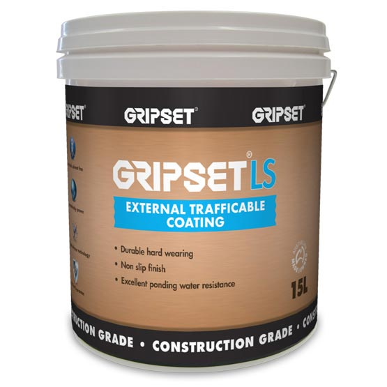Gripset LS 15L External Trafficable Coating (Roofcoat)