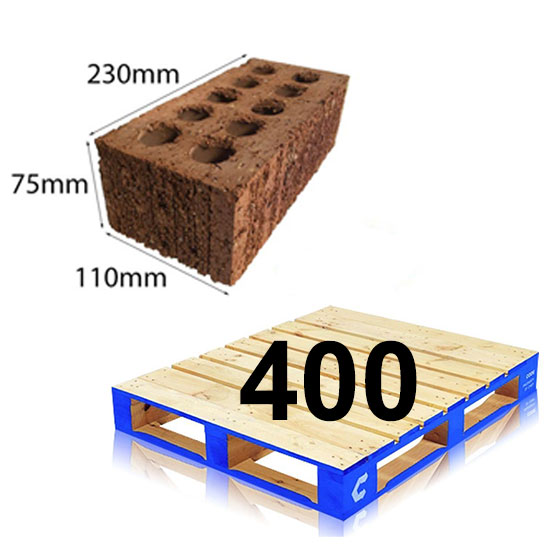 Brick Extruded Common 230x110x75mm Pallet of 400 Scratch Face