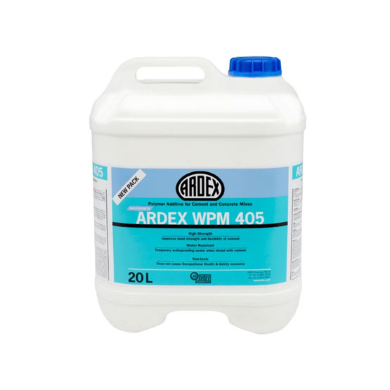 Ardex WPM405 Polymer Additive for Cement and Concrete Mixes 20L