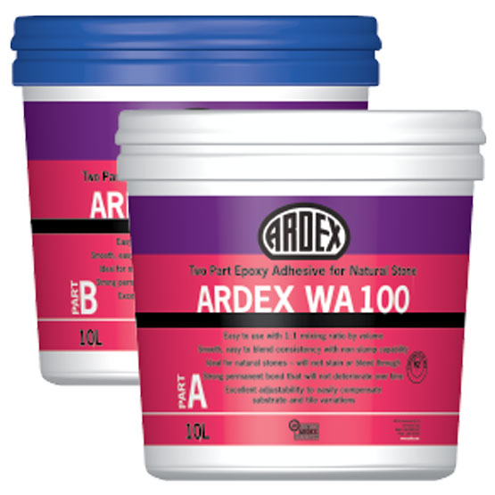Ardex WA100 Two Part Epoxy Kit for Natural Stone 10L Part A/10L Part B