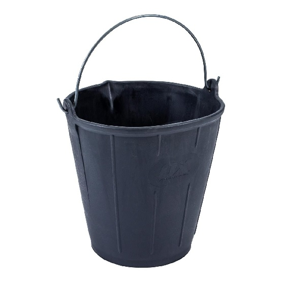 Bucket Rubber With Pouring Lip 15L Black