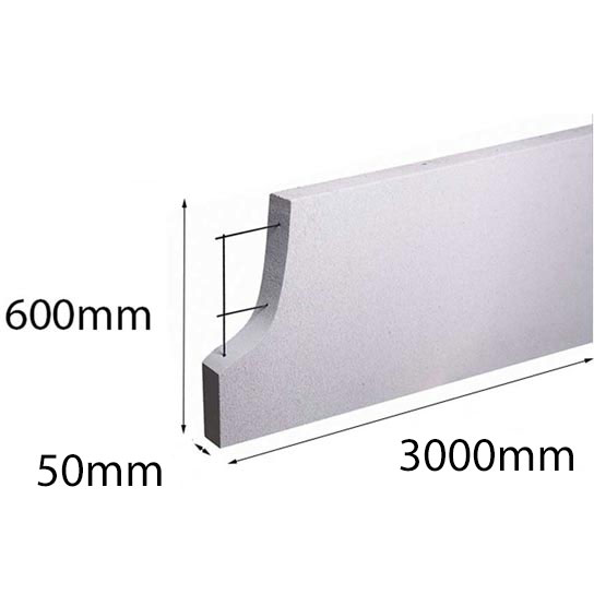 Hebel PowerPanel 3000x600x50mm (PowerFence) (see * for freight costs)