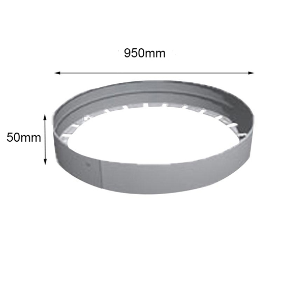Link Edge Circle 50mmhx950mm Aluminium Garden Edging