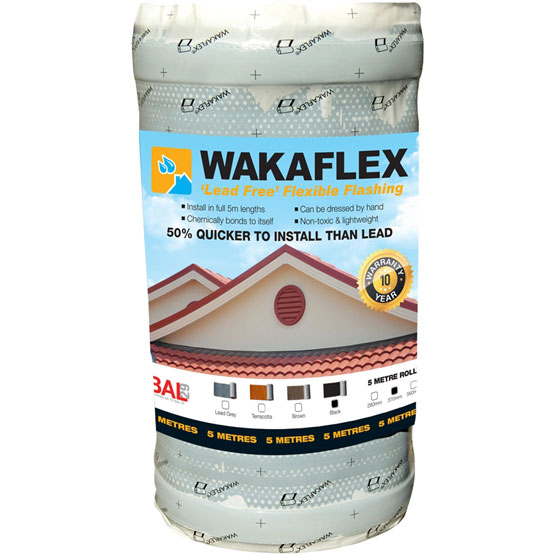 Wakaflex Flashing 370mmx5m Black