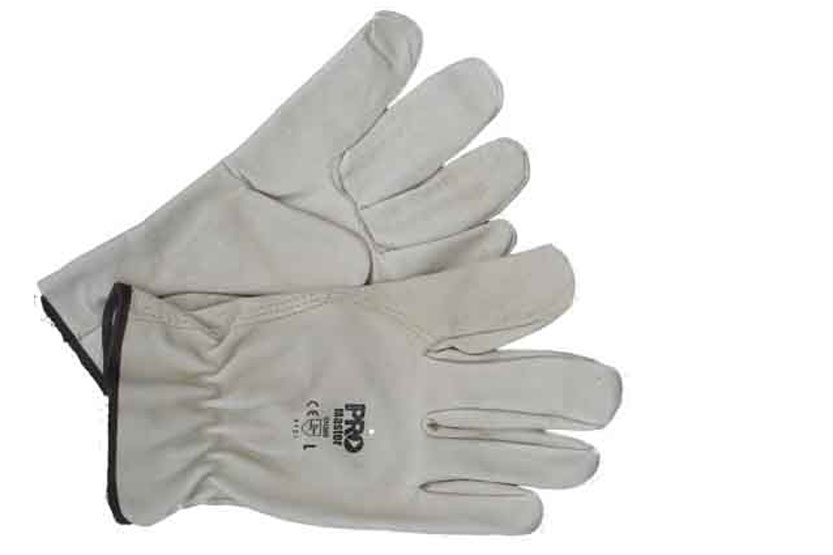 Glove Mens Riggers Natural Large Pro Master