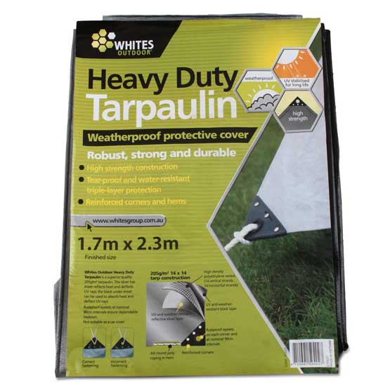 Tarp silver heavy duty 6' x 8' for keeping firewood dry