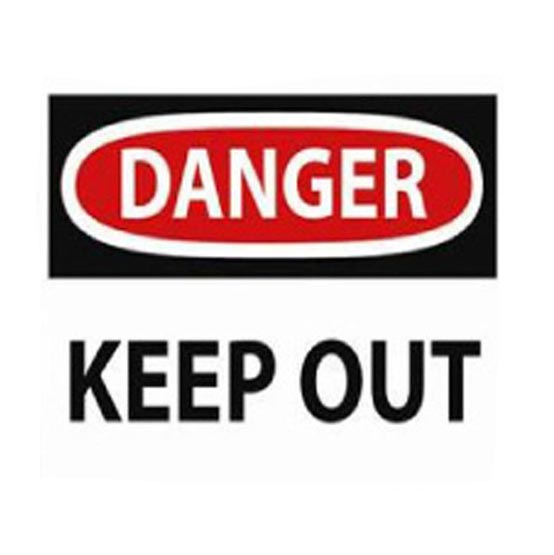 Site Sign Danger Keep Out 600x450mm
