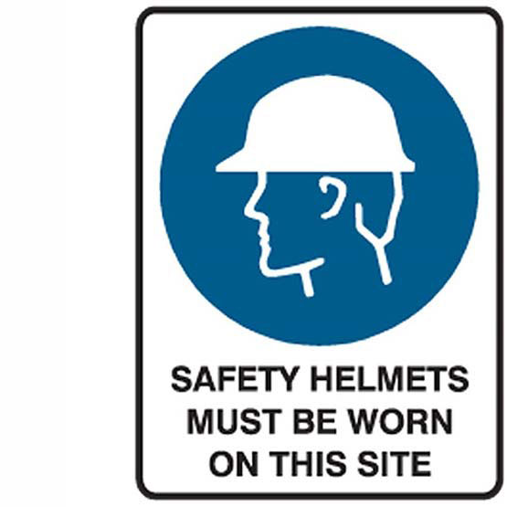 Site Sign Safety Helmets Must Be Worn On This Site 600x450mm