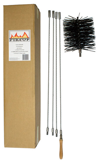 Chimney Sweep Flue Brush Kit