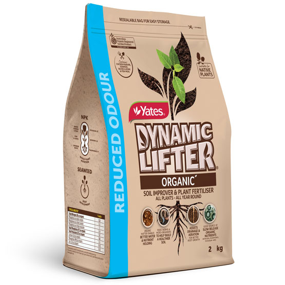Fertiliser Dynamic Lifter Plant Food Low Odour Yates 2kg